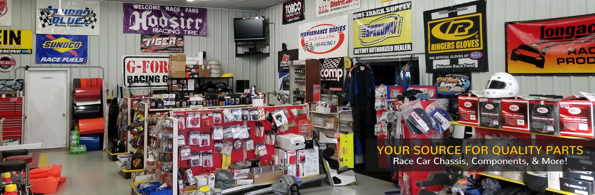 Inside Dirt Track Supply Store